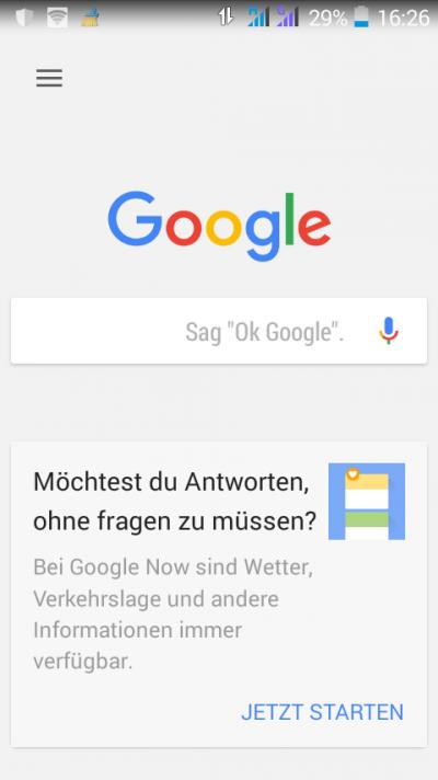 Google Search App Eingabefeld